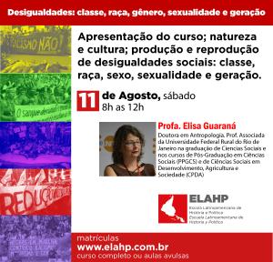 Apresentação do curso; natureza e cultura; produção e reprodução de desigualdades sociais: classe, raça, sexo, sexualidade e geração.