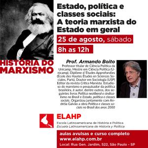 Estado, política e classes sociais: A teoria marxista do Estado em geral. Prof. Armando Boito