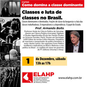 Classes e luta de classes no Brasil com Armando Boito